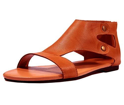 Minetom Sandalias Mujeres Bohemia Verano Planos Moda Casual Elegante Peep Toe Shoes Sandals Zapatos...