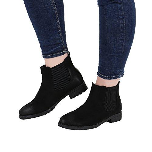 Stiefelparadies - Stivali Chelsea Donna Nero