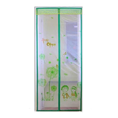 1949shop Durable Fiberglas Screen Tür, Full Frame Schleife Mesh Vorhang Französisch Tür Schiebetür Terrasse Doppel Tür-d 80x210cm (31x83inch) -
