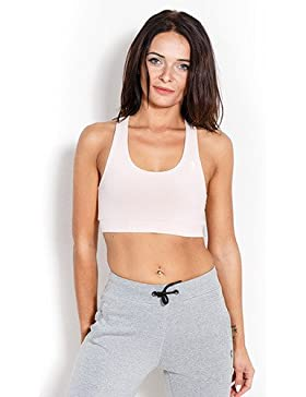 Kevin levrone Bra Woman Lady Powder Pink–Sport BH–Entrenamiento Top–Fitness, Rosa, medium