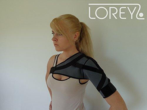 Hochwertige Schulterbandage, Schulter-Bandage aus 4 mm dickem Neopren Größe XL
