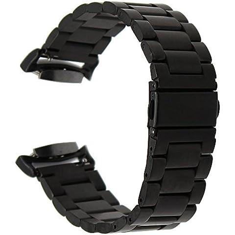 TRUMiRR Dell'Acciaio Inossidabile Cinturino Quick Release Cinturino con Adattatori per Samsung Gear S2 SM-R720 SM-R730