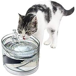 NPET Automatique Fontaine à Eau pour Chat Chien, Distributeur Eau pour Animal Domestique Filtre, 1,6L Électrique et Ultra Silencieuse WF030 - Garantie de 2 Ans