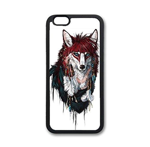 Coque silicone BUMPER souple IPHONE 7 - Fox renard loup animaux CASE tpu DESIGN + Film de protection INCLUS 2