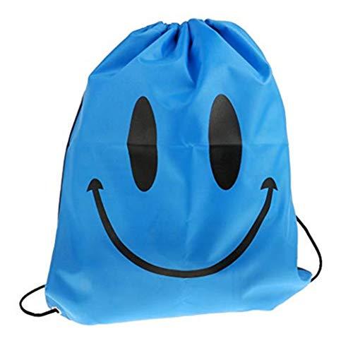 Deanyi Wasserdicht Lächeln Tragetasche Oxford Cloth Schule Beutel Rucksack Sport Gymnastik Yoga Blau Home Zubehör -