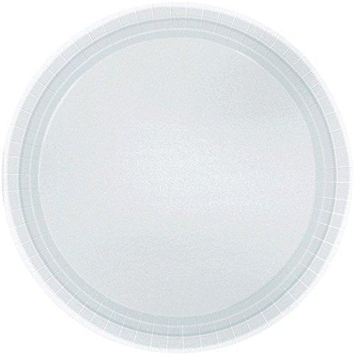 Amscan International Kunststoffteller 22,8cm Teller S/C (Silber)