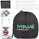 MAVE Moskitonetz für Doppelbetten - Eckiges oder rundes Fliegennetz im XXL Format - Großes Mückennetz für Tropen Reisen inklusive Reparaturset, Befestigungsmaterial & E-Book (Rund)