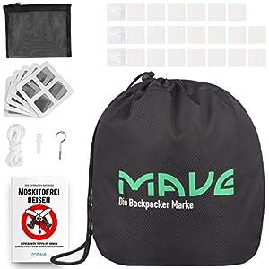 MAVE® Moskitonetz für Doppelbetten – Eckiges oder rundes Fliegennetz im XXL Format – Großes Mückennetz für Tropen Reisen…