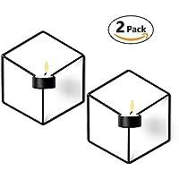 Susi Juego de dos portavelas de hierro para velas de té ideal para colgar, ideal como regalo para casa o para la vida