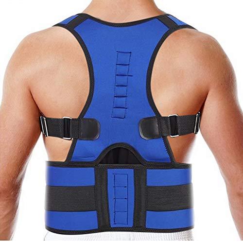corrector espalda Soporte ortopédico corrector de postura ajustable para hombres adultos y adolescentes(S)