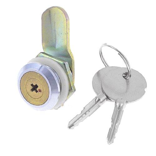Aexit Schublade Datei Baumarkt Cabinet Sperren 18mm Dia Gewinde Zylinder Cam Lock Eisenwaren w Key -