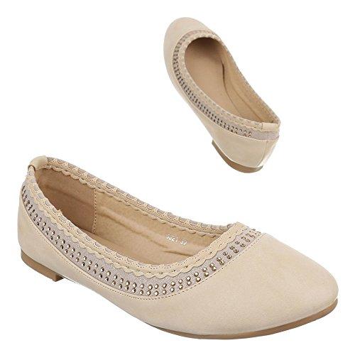 Ital-Design - Ballerine Donna Beige (beige)