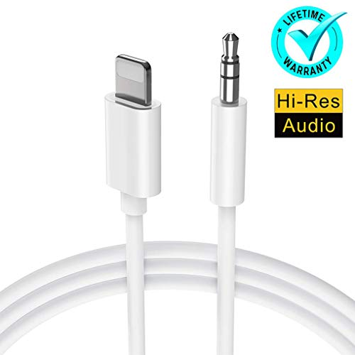 Para iPhone Cable AUX Adaptador Auriculares Jack Estéreo