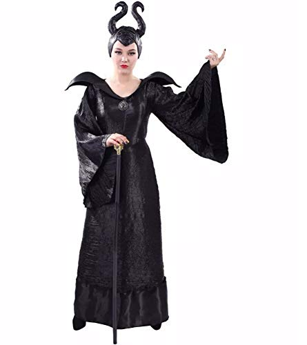 Böse Königin Damen Kostüm Disney - MJPARTY Damen Kostüm Böse Königin Deluxe Halloween Wicked Queen Kostüm