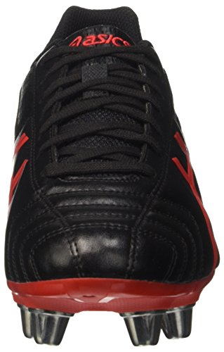 Asics Herren Lethal Tackle Gymnastik, UK Nero (Onyx/Vermilion/Black)