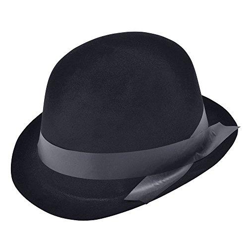 Bristol Novelty bh101Bowler Hut schwarz, One Size (Ideen Bowler Halloween-kostüm Hut)