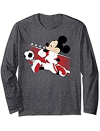 Disney Mickey Mouse England Soccer Uniform Portrait Maglia a Manica