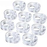 10pcs Fermaporte per maniglie in PVC per porta a 10 pezzi - Fermaporta per porta trasparente - Paraspigoli per porta