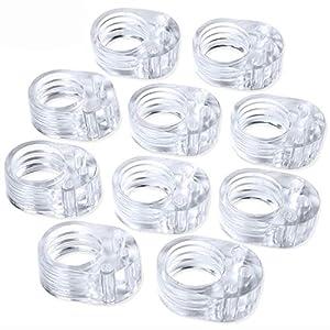 10pcs Fermaporte per maniglie in PVC per porta a 10 pezzi - Fermaporta per porta trasparente - Paraspigoli per porta 41pDWkLZCBL. SS300