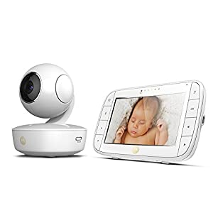 Motorola MBP50 Video Baby Monitor with Large 5-inch Full Colour Curved Parent Display Unit GHB Portable Parent Unit - with the wireless 3.2'' display, new parents can monitor their lovely baby clearly in the living room, kitchen or any place in the signal range Infrared Night Vision - you can keep eye on your baby at night in your bedroom and no need to go to the baby room, which avoids waking up your baby VOX Mode (power saving mode) - under VOX mode, if baby camera detects a sound over a certain threshold in the baby room, the video display will turn on automatically, and then will turn off when the baby room is silent to save the battery power 12