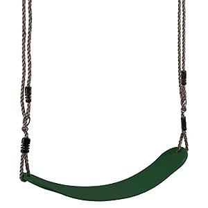 Ultrakidz Asiento de columpio Eco, columpio infantil elástico, resistente a la intemperie, flexible para una gran comodidad, Verde