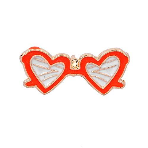 NSXZ Brosche Anstecknadel Emaille Pins Cartoon Brille Musical Lichter Ziele süße Jacken Brosche Abzeichen Schmuckauf Rucksack für Kleidung