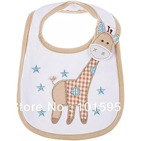 Quickcor (TM) 10 pezzi/confezione-Bavaglino per bebè, in cotone, con strato