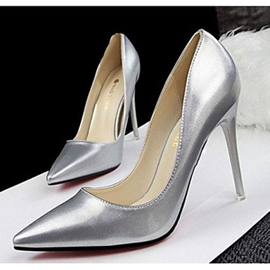 Moda Donna Sandali Sexy donna tacchi in pelle di brevetto Casual Stiletto Heel altri nero / rosa / argento / verde chiaro / Beige / Champagne altri Pink