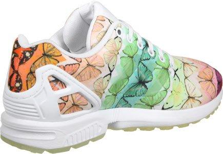 adidas Damen ZX Flux W Low-Top Footwear White/Linen Green