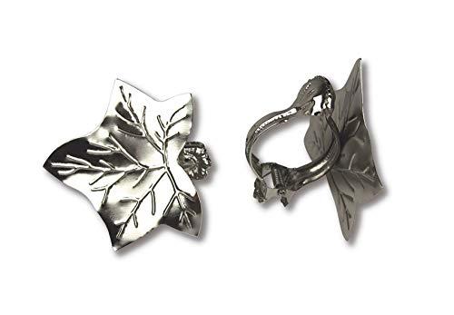 Donauklammern, Raffklammern, Gardinenklammern Motiv Blatt 2 Stück Farbe Nickel