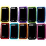 Samrick Lot de 10 coques en silicone pour Nokia Lumia 520 Bleu foncé/bleu clair/vert//orange/blanc/rose/violet/rouge/jaune/noir