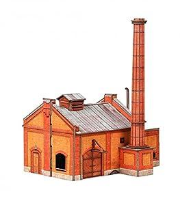 Keranova keranova348Escala 1: 87(18x 13x 21cm Clever Papel Ferrocarril Collection Edificios Casa 3D Puzzle de la Caldera