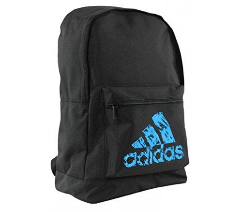adidas Basic Back Pack Sporttasche, Schwarz/Blau, 30 x 45 x 17 cm -