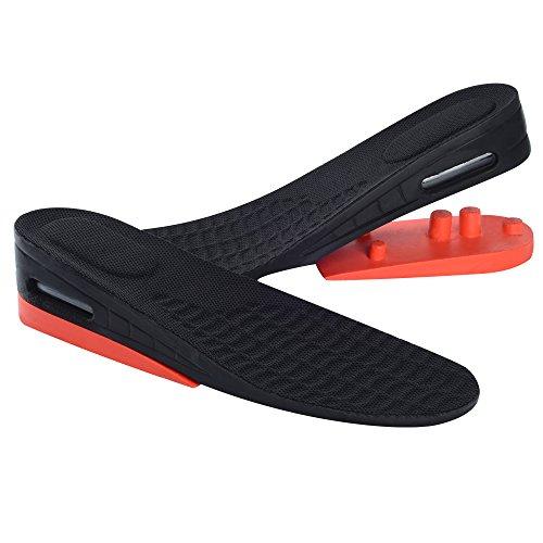SOUMIT Einstellbare Höhe Einlegesohle | 2 Layer Weich PU Erhöhung Einlegesohle Taller Pad Schuherhöhung, Optimale Dämpfung und Maximaler Halt (L EU40-45, Unisex, Erhöht 4-5,5CM) (Ultra Laufschuhe Cushion)