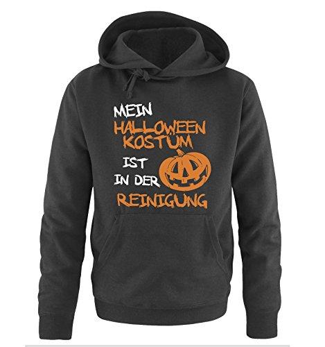 MEIN HALLOWEEN KOSTM IST IN DER REINIGUNG KRBIS - Herren Hoodie Schwarz / Weiss-Orange Gr. XL Schwarz / Weiss-Orange (Der Schule Halloween Meister)