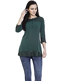 3/4 th sleeve Round neck Kurti