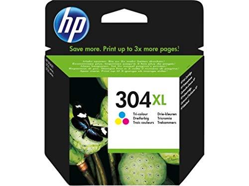 Hp 304 xl n9k07ae cartuccia originale per stampanti hp a getto di inchiostro, compatibile con stampanti hp deskjet 2620 e 2630, hp deskjet 3720, 3730, 3750 e 3760, hp envy 5010, 5020 e 5030, tricromia