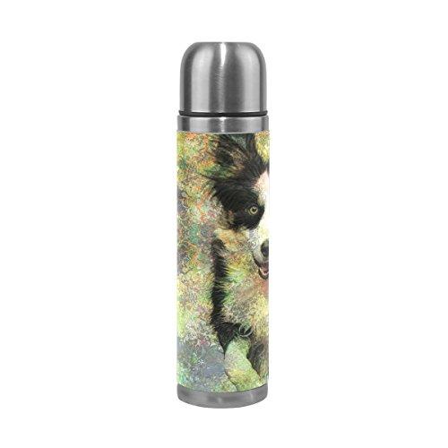Eslifey Hunde-Trinkflasche, auslaufsicher, isoliert, doppeltes Vakuum, Edelstahl, Thermoskanne, 500 ml