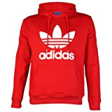 Mens Adidas Originals Trefoil Logo Hooded Sweatshirt Jumper Hoodie Top