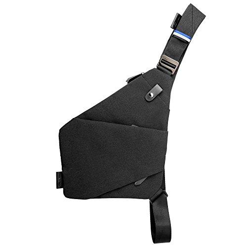 NIID-FINO II Neu Design Sling Schulter Crossbody Brusttasche Slim Rucksack Mehrzweck Daypack Aktualisierte Version (Links, Meteorite Schwarz) - Schulter-rucksack