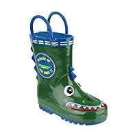 Cotswold Puddle Boot Boys Synthetic Material Wellies Crocodile - 8.5 Infant
