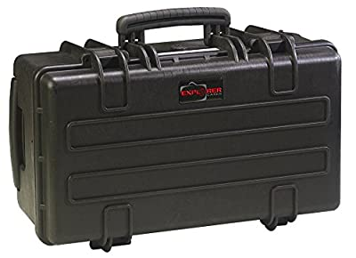 Explorer Cases 5122BPH Waterproof Case with Padded Divider System & Convoluted Foam Lid, Black
