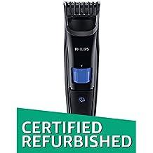 (CERTIFIED REFURBISHED) Philips QT4001/15 Beard Trimmer Cordless for Men (Black)