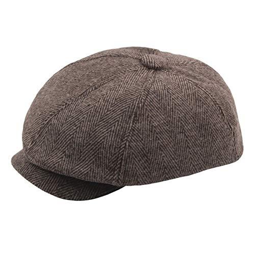 YYMDN Octagonal Cap Boinas Sombreros Planos En Espiga