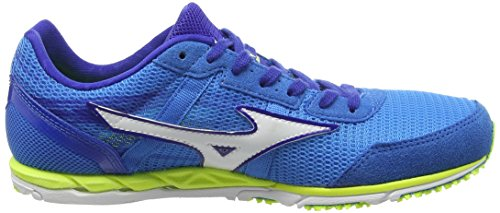Mizuno Wave Ekiden 10 Herren Laufschuhe Blau (Diva Blue/White/Safety Yellow)