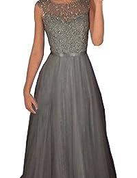 Amazon.it  vestiti donna eleganti da cerimonia lunghi  Abbigliamento 120ddc86146