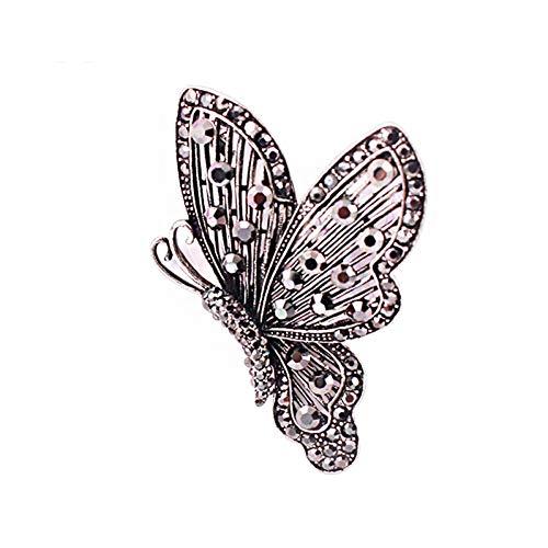 CCJIAC Schmetterlings-Frauen-Brosche steckt Weinlese-antike Kostüm-Schmuck-Broschen für weibliches Party-Geschenk fest (Antike Kostüm Schmuck Broschen)