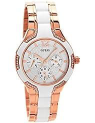 Guess Damen-Armbanduhr Analog Quarz Edelstahl W0556L3