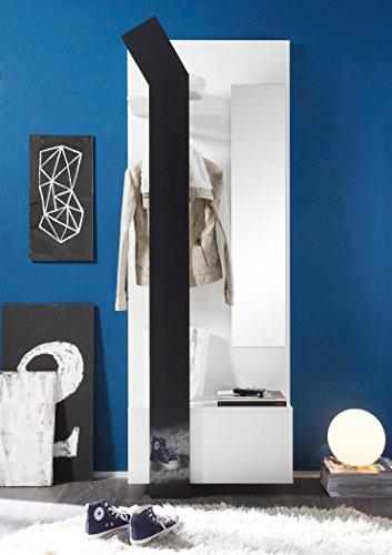 expendio 44849153 Garderobe, MDF/Spannplatte, weiß, 33 x 75 x 200 cm