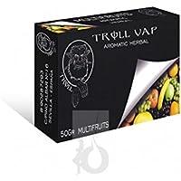 FumandoEspero Hierbas Troll Vap para shisha SIN NICOTINA - Sabor: Multifrutas (50 gr) - Sustitutivo de tabaco sin nicotina para cachimba
